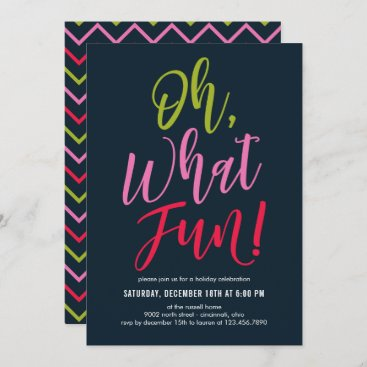 Oh What Fun EDITABLE COLOR Party Invitation