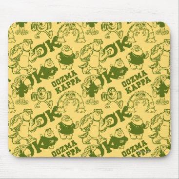 OK OOZMA KAPPA Pattern - Yellow Mouse Pad