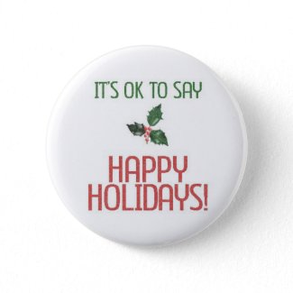OK to say Happy Holidays button
