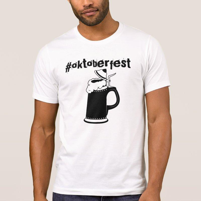 Oktoberfest hashtag tshirt