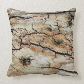 Old cracked wood natural tree bark picture throw pillow