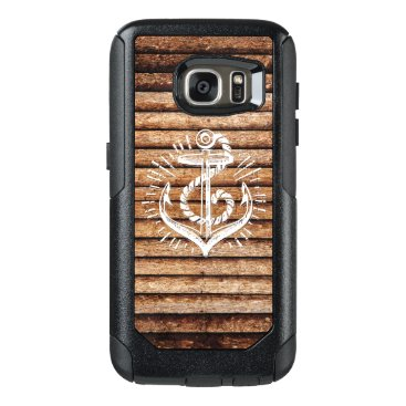 Old Nautical Anchor Wood OtterBox Samsung Galaxy S7 Case