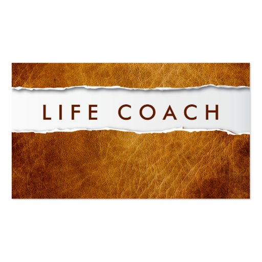 Old Ripped Paper Life Coach Business Card | Zazzle