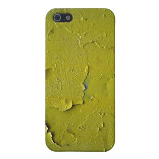 Old Yellow paint cracked iPhone 5 Cover