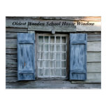 oldest school house window postcard
