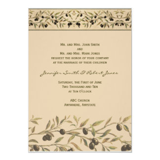Olive Branch A Tuscan Touch Wedding Invitation