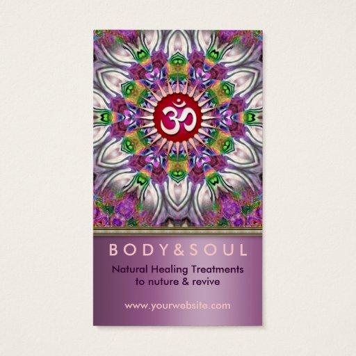 Om Energy Yoga Healing Star Business Card