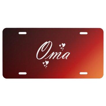 oma, grandma license plate