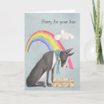 ❤️ Dog At The Rainbow  Bridge  Sympathy Card