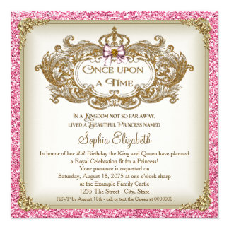 Unique Illuminated Text Meval Fairytale Once Upon A Time Wedding Invitation Front