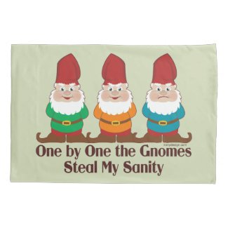 One By One The Gnomes Pillowcase