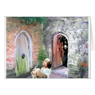 One Door Closes_PAinting_Equalized.jpg Greeting Cards