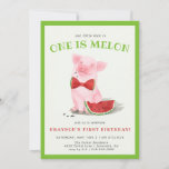 ❤️ One in a Melon | First Birthday Invitation