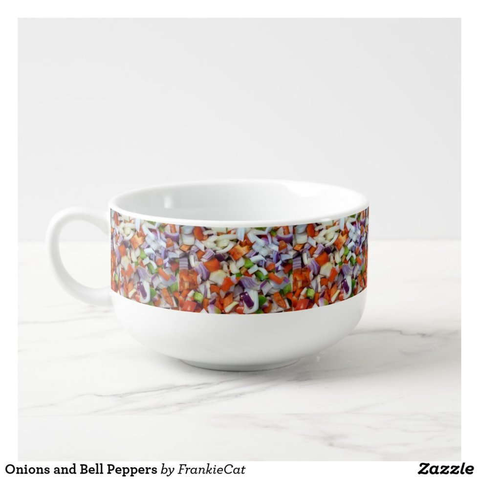 Onions and Bell Peppers Soup Mug