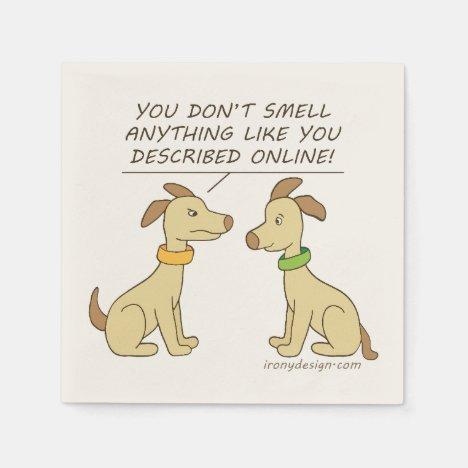 Online Dating Dog Humor Napkins