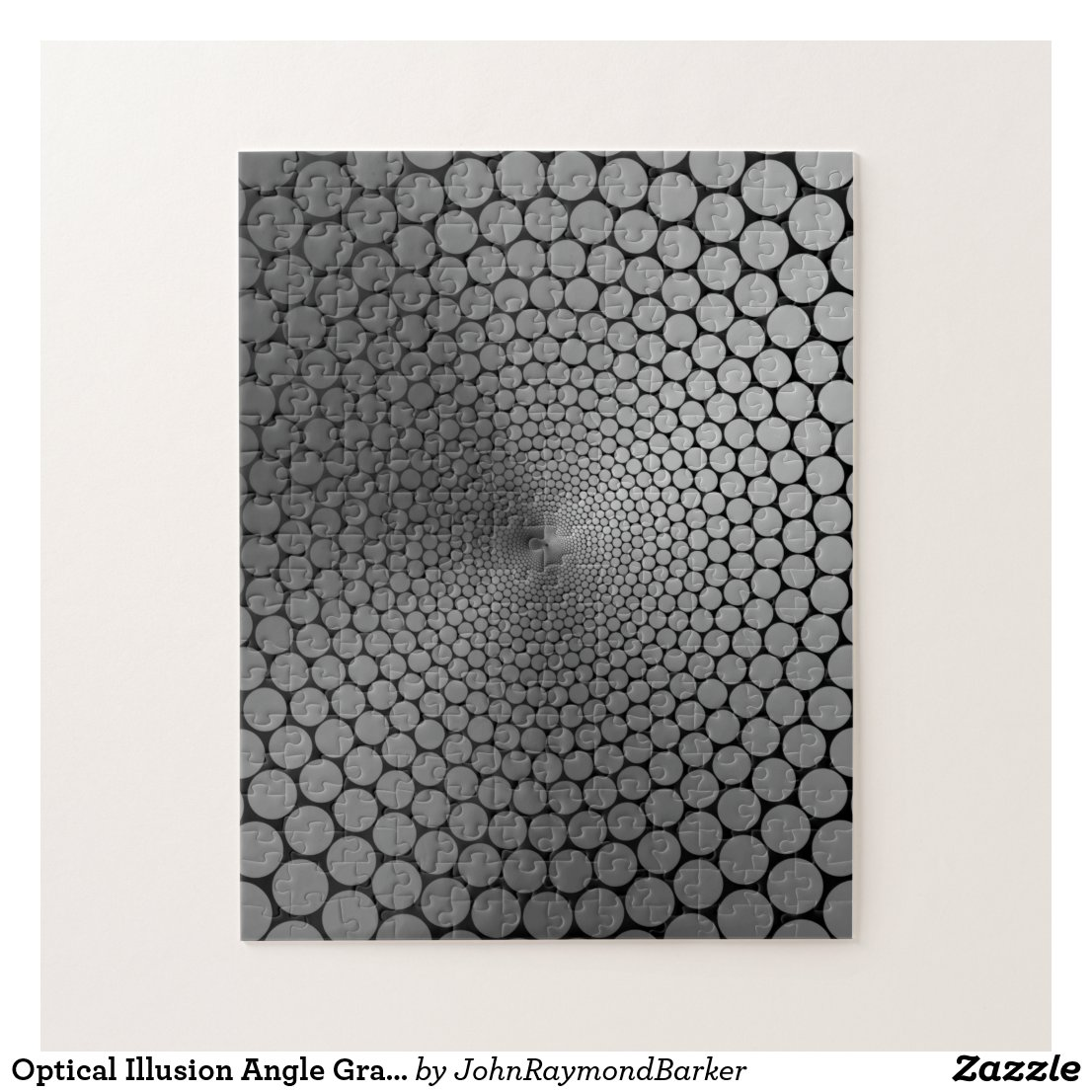 Optical Illusion Angle Gradient Slate/Black NOIR Jigsaw Puzzle