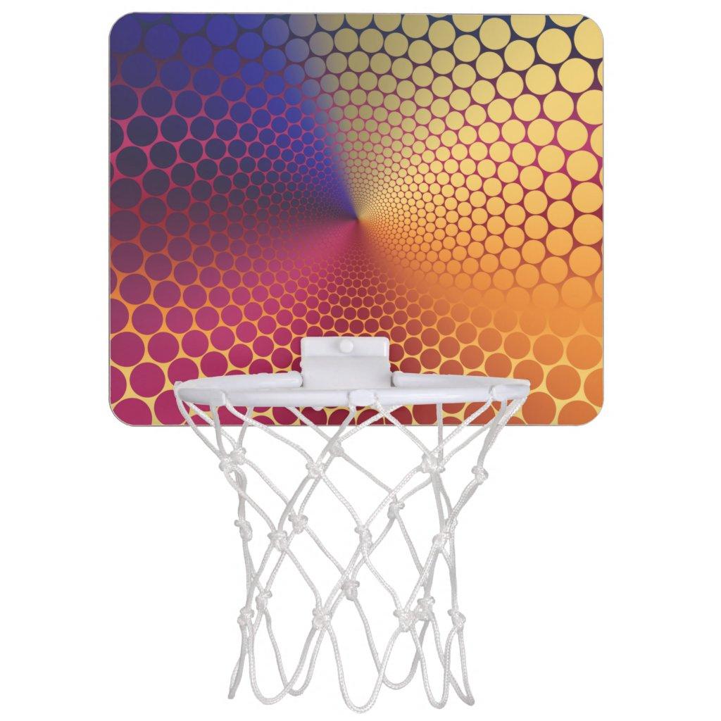 Optical Illusion Angle Radiant Gradient Mini Basketball Hoop