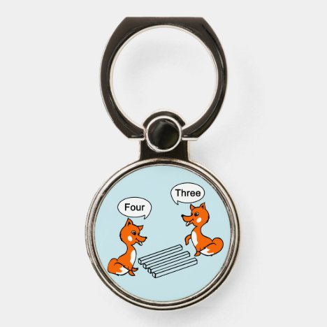 Optical illusion Trick Fox | Blue Phone Ring Stand