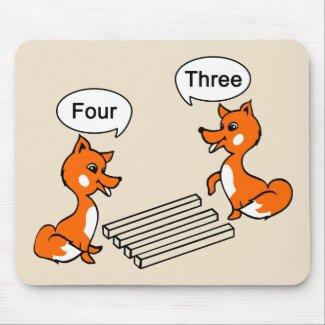 Optical illusion Trick Fox Mouse Pad