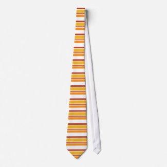 Orange brown stripes - Tie tie