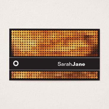 Orange Disco LIghts Business Card