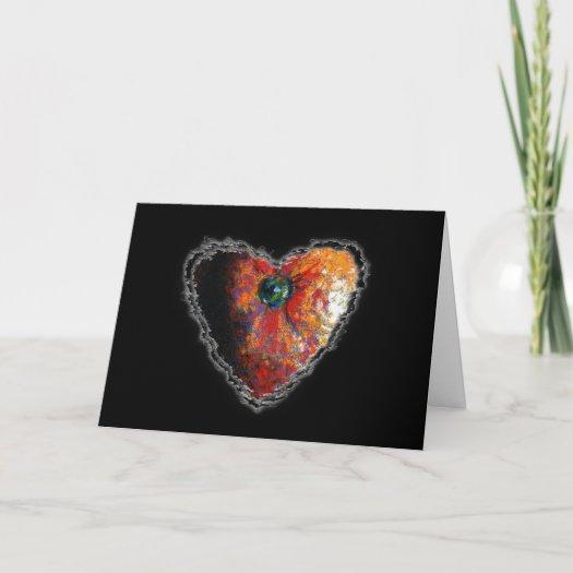Orange Heart Card