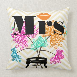 Orange Mrs Lips Pale Yellow Zig Zag Mason Jar