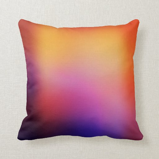 Orange Purple Pink And Yellow Abstract Glow Modern Throw