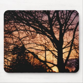 Orange Sunset Mousepad mousepad