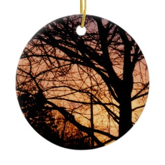 Orange Sunset Ornament ornament