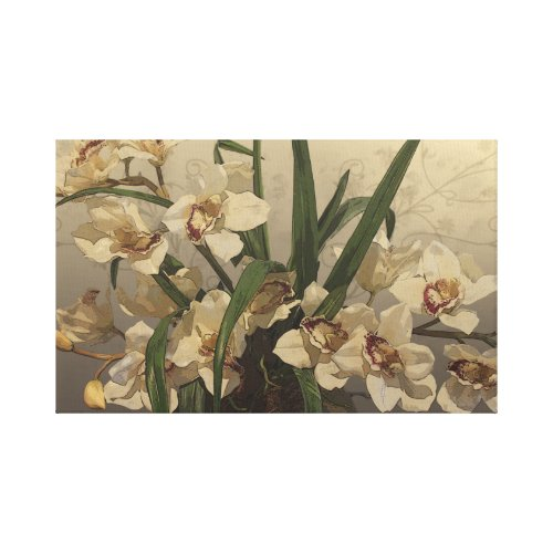Orchids Drawing zazzle_wrappedcanvas