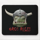 Orcs Rule! Mousepad