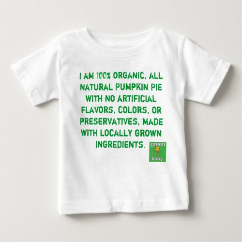 Organic Pumpkin Pie Baby T-Shirt