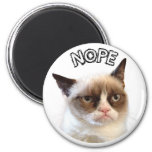 "Original Grumpy Cat Round Magnet ""NOPE"" magnets"