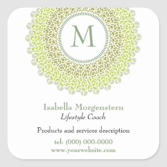 Ornamental Monogram Sticker