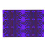 Ornate purple blue abstract laminated placemat