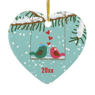 Our First Christmas Love Birds Ornament
