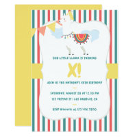 Our little Llama Any Age Kids Birthday Party Card