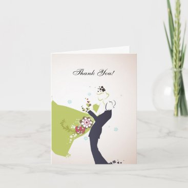 Our Wedding Day - Thank You card