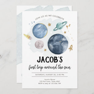 outer space party invitations zazzle