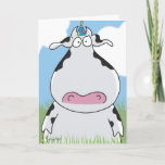 ❤️ Funny Outstanding Cow Birthday Card