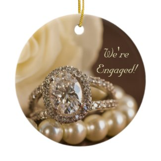 Diamond Engagement Ring Ornament