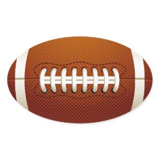 Oval Football Sticker