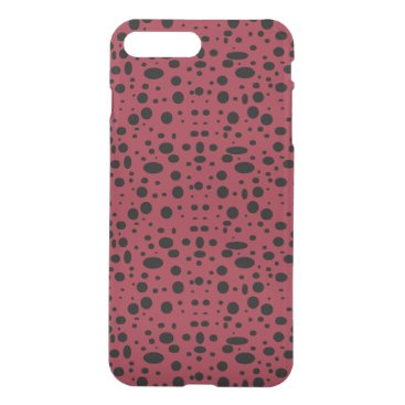 Oval polka dots black iPhone 8 plus/7 plus case