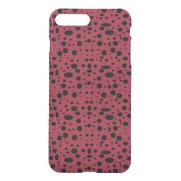 Oval polka dots black iPhone 8 plus/7 plus case