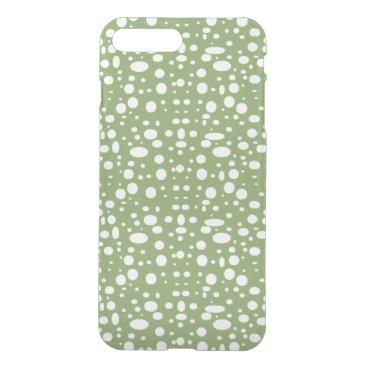 Oval polka dots white iPhone 8 plus/7 plus case
