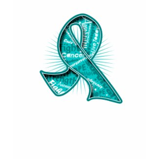 Ovarian Cancer Slogan Watermark Ribbon shirt