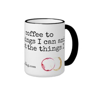 Over Coffee and Wine Ringer Mug