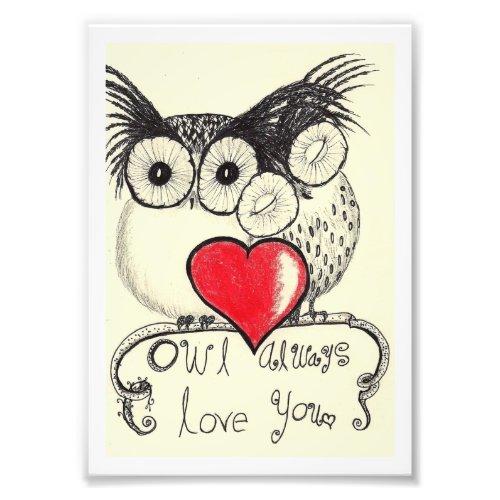 owl always love you photo print