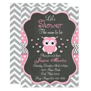 Owl Baby Shower Invitations Zazzle